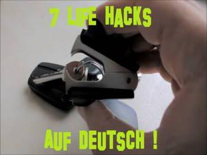7 Life Hacks auf Deutsch