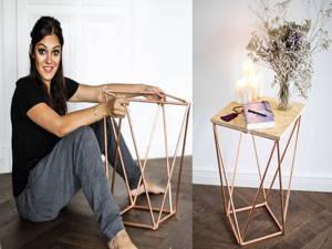 Beistelltisch aus Kupfer – DIY