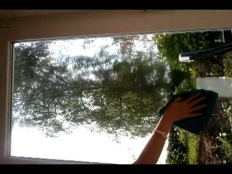 Fenster streifenfrei mit Mikrofasertuch