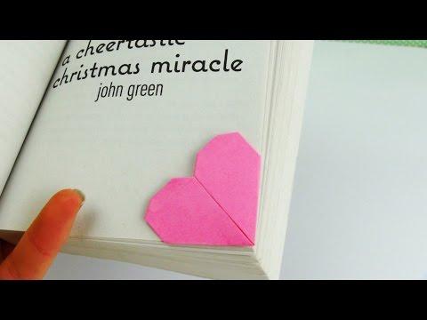 Lesezeichen in Herzform – Origami