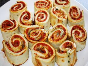 Pizzaschnecken aus TK-Pizza