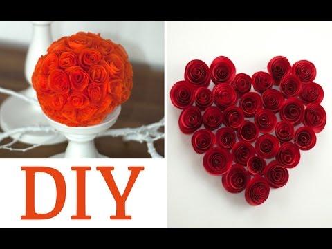 Rosen aus Papier oder Servietten basteln