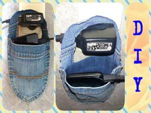 Smartphone Halterung aus Jeans