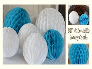 Wabenbälle aus Seidenpapier – DIY