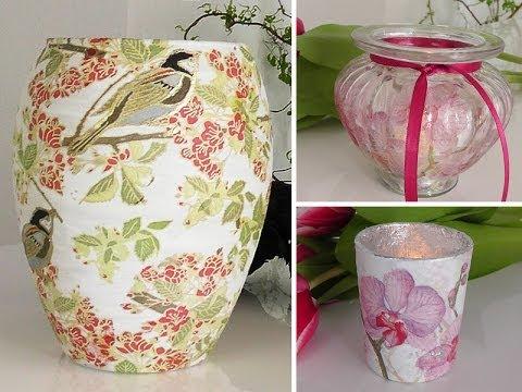 Windlichter und Vasen neu gestalten – Frühlingsdeko