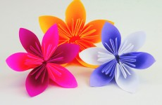 Blüten oder Blumen falten Origami