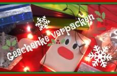 Geschenke weihnachtlich verpacken