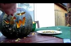 Kürbis schnitzen zu Halloween