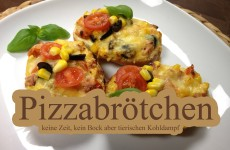 Leckere Pizzabrötchen