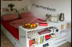 Bett aus Paletten selbst bauen