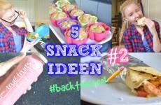 Gesunde Snacks zum mitnehmen