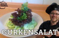 Leichtes Rezept für Gurkensalat