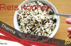 Reis kochen – Basic Tipp