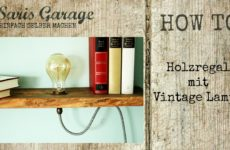Kreatives Vintage Regal mit Lampe – DIY
