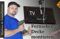 TV an der Decke montieren