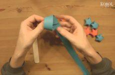 Mini Sterne aus Papier in 3D
