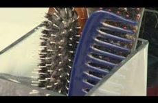 Haarbürste mit Shampoo reinigen