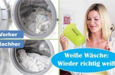Wäsche wieder richtig weiß bekommen